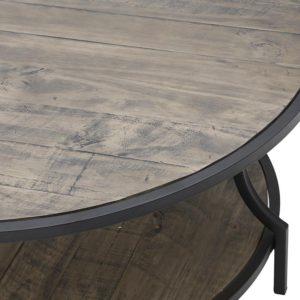 Ξύλινο/μεταλλικό στρογγυλό τραπέζι