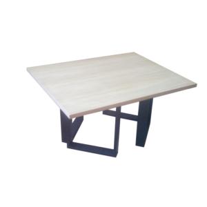 Τραπέζι Σαλονιού Τετράγωνο Ξύλο-Μέταλλο