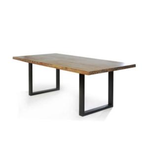Τραπέζι Σαλονιού Μέταλλο με Ξύλο