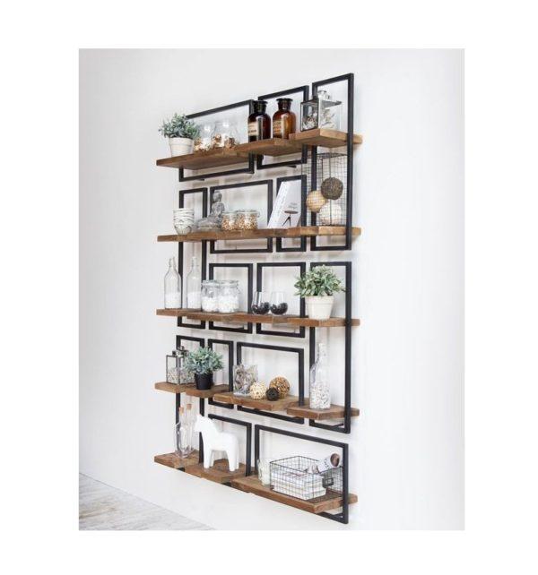 Ραφιέρα τοίχου – Βιβλιοθήκη 4