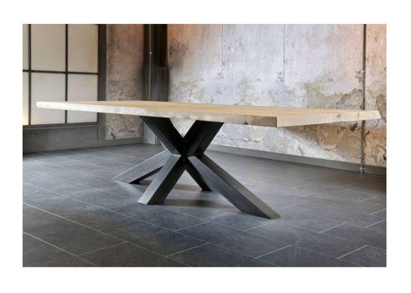 Τραπέζι Τραπεζαρίας Μεταλλικό πόδι με Ξύλινο καπάκι