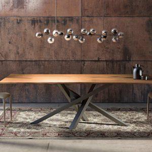 Τραπέζι Τραπεζαρίας Industrial Σίδερο Ξύλο