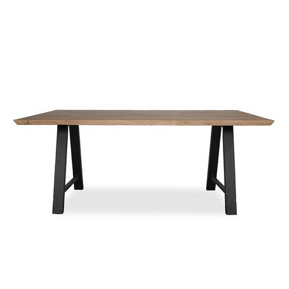Τραπέζι Τραπεζαρίας Σιδερένιο πόδι με Ξύλο