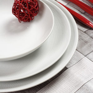 Σερβίτσιο Φαγητού Λευκό 20τμχ