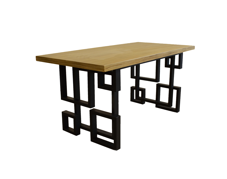 Τραπέζι Τραπεζαρίας Μοντέρνο Ξύλο Σίδερο